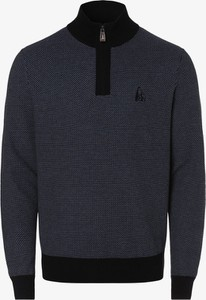 Granatowy sweter Andrew James Sailing z bawełny