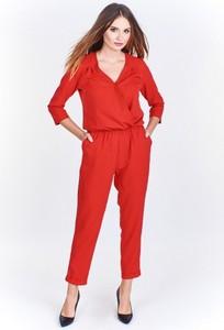 Czerwony kombinezon Sophie z długimi nogawkami