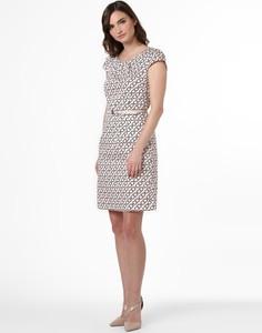 Sukienka comma, prosta z krótkim rękawem z okrągłym dekoltem