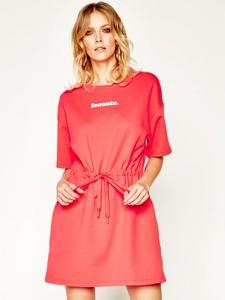 Sukienka Lacoste mini z okrągłym dekoltem