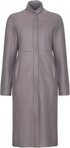 Płaszcz Fan Leather w stylu casual z wełny