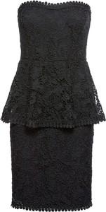 Czarna sukienka bonprix BODYFLIRT boutique midi