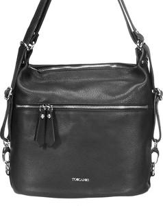Czarna torebka Domeno w stylu glamour matowa