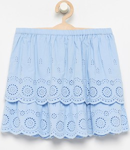 Niebieska spódniczka dziewczęca Reserved z bawełny