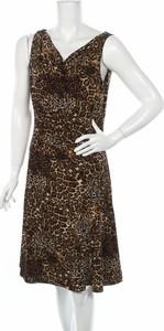 Brązowa sukienka Jones Wear mini z dekoltem w kształcie litery v