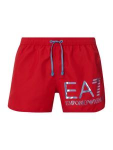 Czerwone kąpielówki EA7 Emporio Armani