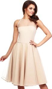 Brązowa sukienka MOE bez rękawów midi