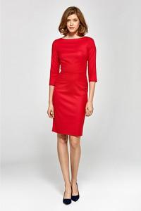 Czerwona sukienka Colett z długim rękawem