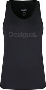 Czarny top Desigual Sport w stylu casual