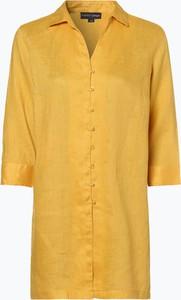 Żółta bluzka Franco Callegari z lnu