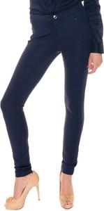Granatowe spodnie Tommy Hilfiger w stylu casual