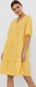 Sukienka WARESHOP z bawełny w stylu casual mini