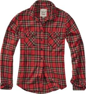 Czerwona koszula Emp z długim rękawem z kołnierzykiem