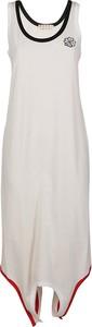 Sukienka Marni z okrągłym dekoltem asymetryczna maxi