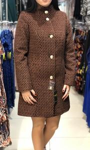 Brązowy płaszcz producent niezdefiniowany w stylu casual