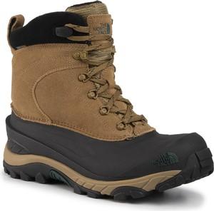Brązowe buty zimowe The North Face sznurowane