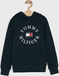 Czarna bluza dziecięca Tommy Hilfiger z dzianiny