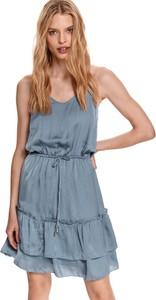 Sukienka Top Secret w stylu boho koszulowa na ramiączkach