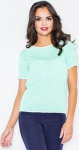 Zielona bluzka Figl z krótkim rękawem