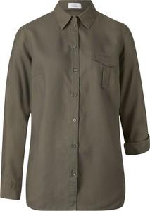 Zielona koszula bonprix bpc bonprix collection z długim rękawem z kołnierzykiem