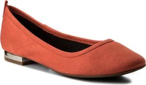 4f51668ab483e Pomarańczowe baleriny aldo z płaską podeszwą