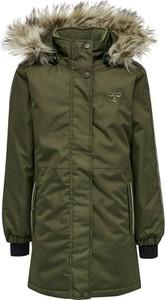 Zielony płaszcz dziecięcy Hummel