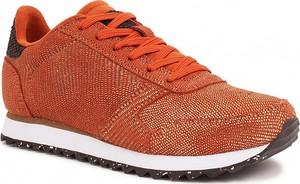 Buty sportowe Woden w sportowym stylu ze skóry sznurowane