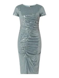 Miętowa sukienka Vera Mont midi z krótkim rękawem
