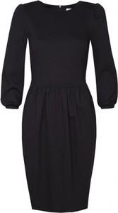 Czarna sukienka Kasia Miciak design z długim rękawem z dzianiny
