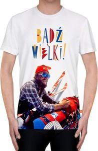 T-shirt Power Canvas w młodzieżowym stylu z krótkim rękawem z nadrukiem