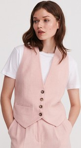 Różowa kamizelka Reserved z wełny
