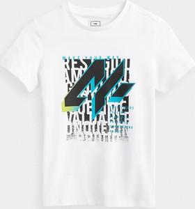 Koszulka dziecięca 4F z krótkim rękawem z dzianiny