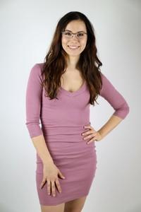 Różowa sukienka Pretty Style dopasowana mini w stylu casual