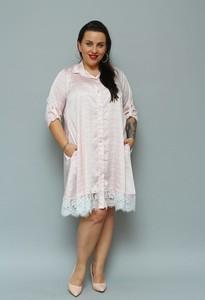 Sukienka KARKO z tkaniny z długim rękawem