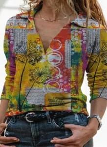 Bluzka Sandbella w stylu boho z długim rękawem