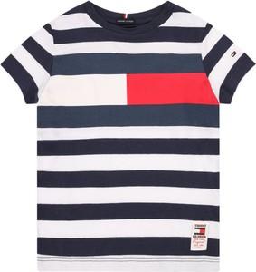 Koszulka dziecięca Tommy Hilfiger w paseczki z krótkim rękawem