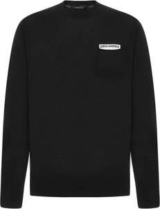 Czarna bluza Dsquared2 z dzianiny