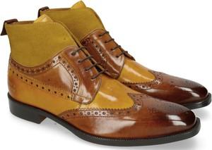 Brązowe buty zimowe Melvin & Hamilton z zamszu sznurowane