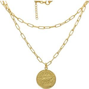 Irbis.style srebrny pozłacany naszyjnik moneta