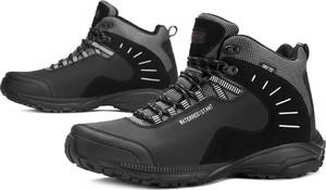 Czarne buty zimowe MT TREK sznurowane