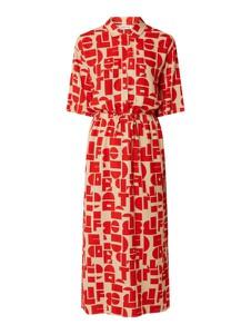 Czerwona sukienka EDITED z krótkim rękawem maxi