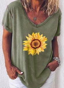 Zielona bluzka Sandbella z bawełny