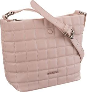 Różowa torebka David Jones średnia