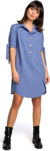 Niebieska sukienka Be w stylu casual mini