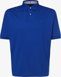 Niebieska koszulka polo Tommy Hilfiger z krótkim rękawem w stylu casual