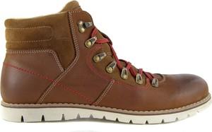 Brązowe buty zimowe Tresor w stylu casual ze skóry