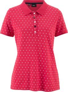 Czerwony t-shirt bonprix bpc bonprix collection w grochy