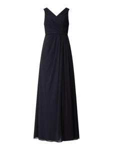 Sukienka Christian Berg Cocktail z szyfonu z dekoltem w kształcie litery v bez rękawów
