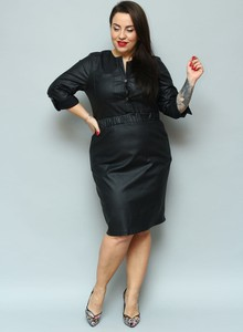 Sukienka KARKO z długim rękawem midi ołówkowa