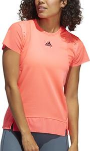 Bluzka Adidas z krótkim rękawem z okrągłym dekoltem w stylu casual